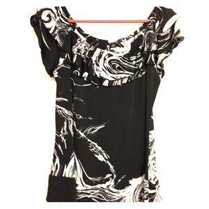 Milano Black & White Blouse
